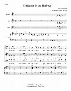 First Page from Christmas in The Harbour – score